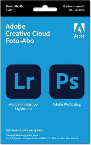 Adobe Creative Cloud 20GB inklusive Photoshop und Lightroom, 1 Jahr Abo, 1 User, PKC (multilingual) (PC/MAC)