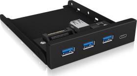 RaidSonic Icy Box IB-HUB1418-i3 USB-Hub, 1x USB-C 3.0, 3x USB-A 3.0, USB-A 3.0 [Buchse] (60432)