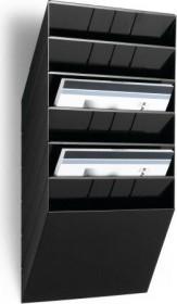 Durable Prospekthalter Flexiboxx 6, A4 Querformat, 6 Fächer, schwarz (1709785060)