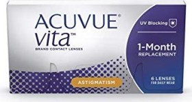 Johnson & Johnson Acuvue Vita for Astigmatism, -1.25 Dioptrien, 6er-Pack