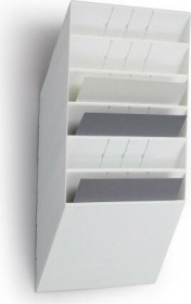 Durable Prospekthalter Flexiboxx 6, A4 Querformat, 6 Fächer, weiß (1709785010)