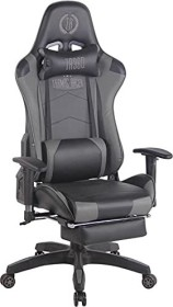 CLP Turbo with synthetic leather cover gaming chair, black/grey (191796591)