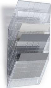 Durable Prospekthalter Flexiboxx 6, A4 Querformat, 6 Fächer, transparent (1709785400)