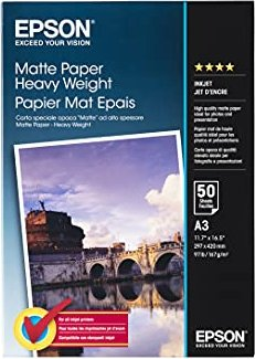 Epson S041261 Matte Heavyweight Papier A3, 167g, 50 Blatt -- via Amazon Partnerprogramm