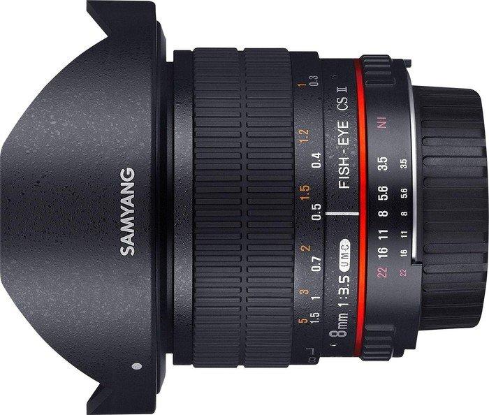 Samyang 8mm 3.5 UMC Fisheye CS II für Fujifilm X schwarz (1121910101)