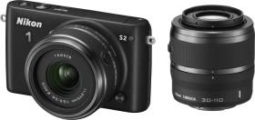 Nikon 1 S2 schwarz mit Objektiv 11-27.5mm 3.5-5.6 und VR 30-110mm 3.8-5.6 (VVA221K002)
