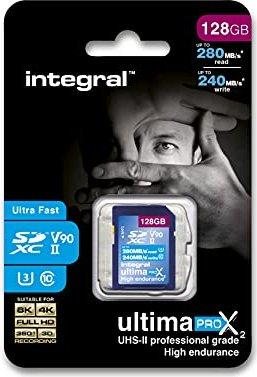 Integral UltimaProX2 R280/W240 SDXC 128GB, UHS-II U3, Class 10 (INSDX128G-280/240U2) -- via Amazon Partnerprogramm