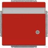 Busch-Jaeger Future Linear Steckdosen-Einsatz mit Klappdeckel, rot (20 EUKNBL-12-82)