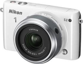 Nikon 1 S2 weiß mit Objektiv 11-27.5mm 3.5-5.6 (VVA222K001)