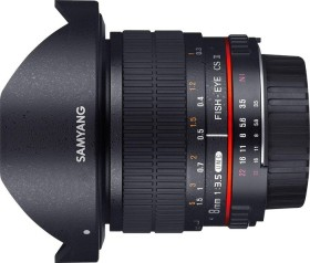 Samyang 8mm 3.5 UMC Fisheye CS II für Pentax K schwarz (1121904101)