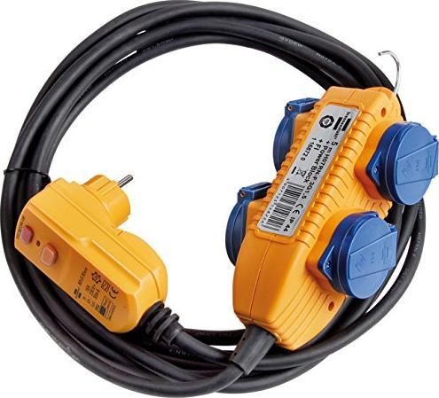 Brennenstuhl Schutzadapterleitung FI IP44 mit Powerblock schwarz H07RN-F 3G1.5 5m (1168720) -- via Amazon Partnerprogramm