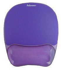 Fellowes Crystals wrist rest and mousepad purple (91441)