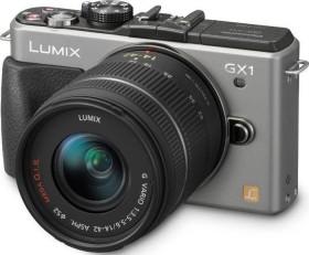 Panasonic Lumix DMC-GX1 silber mit Objektiv Lumix G Vario 14-42mm 3.5-5.6 OIS (DMC-GX1K)