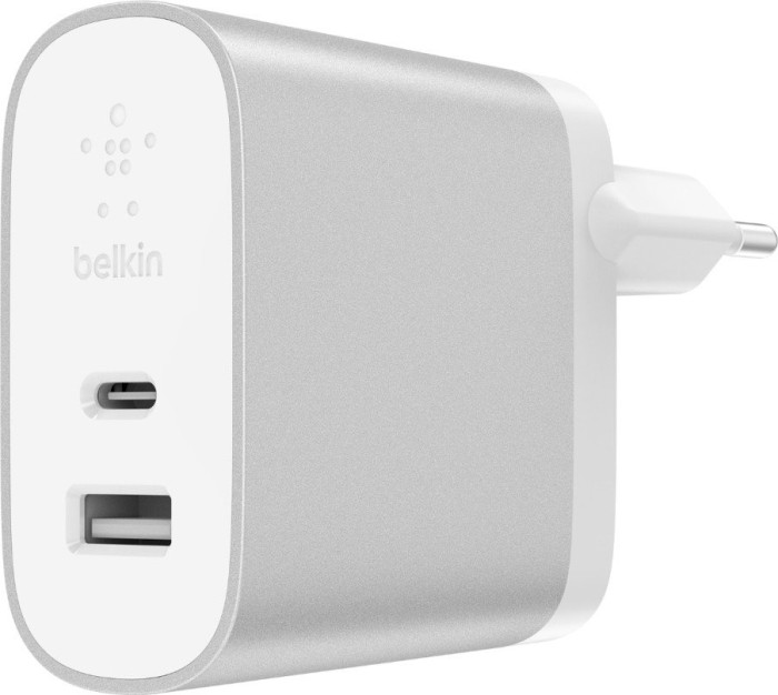 Belkin BoostCharge 27W USB-C/USB-A Netzladegerät silber (F7U061vf-SLV)
