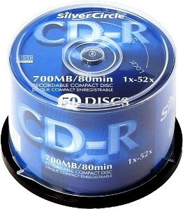 Silver Circle CD-R 80min/700MB 52x, 50-pack Spindle (1003125)