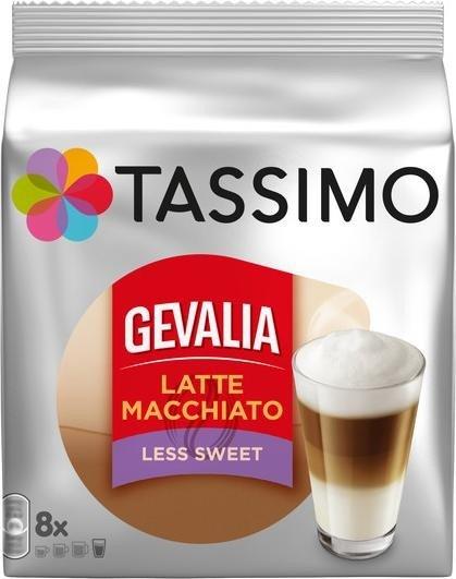 Tassimo T-Disc Gevalia Latte Macchiato Less sweet coffee capsules, 16-pack