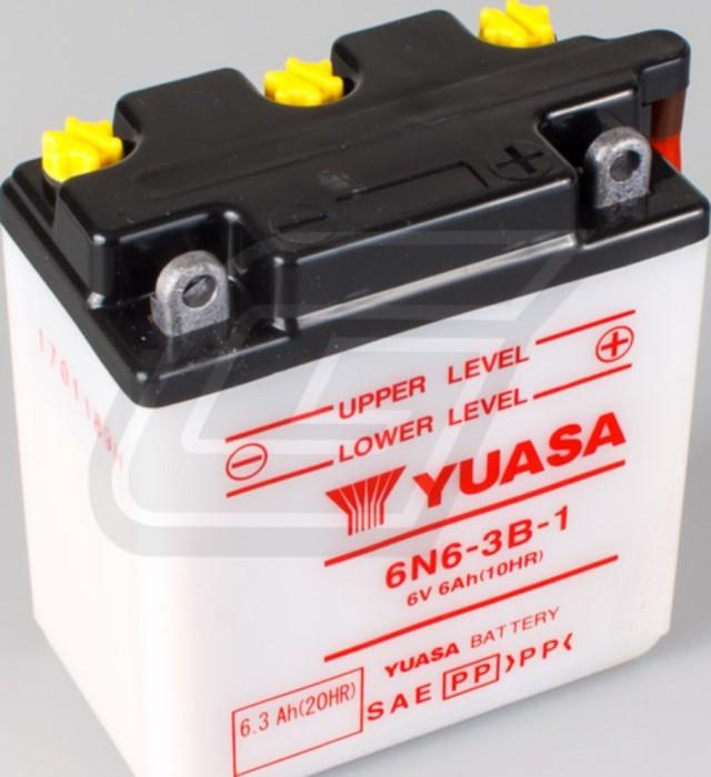 Batterie YUASA inkl. 7,50 EUR Batteriepfand 6N6-3B-1 f/ür KAWASAKI KH125 K1-K6 125 ccm