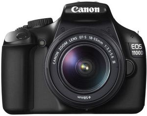 Canon EOS 1100D black with third-party manufacturer lens