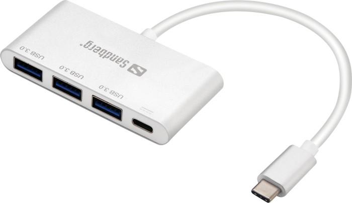 Sandberg USB-Hub, 3x USB-A 3.0, USB-C [Stecker] (136-03)