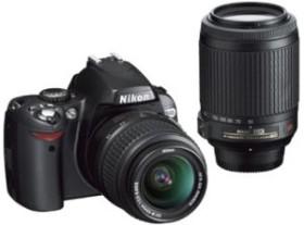 Nikon D40x schwarz mit Objektiv AF-S DX 18-55mm und VR 55-200mm (VBA170K003)