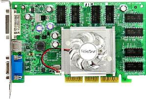 Leadtek WinFast A360LE TD128(64), GeForceFX 5700, 128MB DDR, DVI, TV-out. AGP