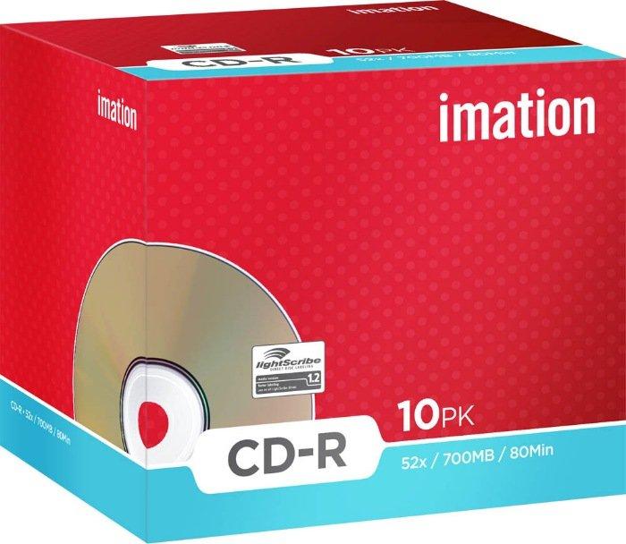Imation CD-R 80min/700MB 52x LightScribe, 10 pieces-Jewelcase (i22383)
