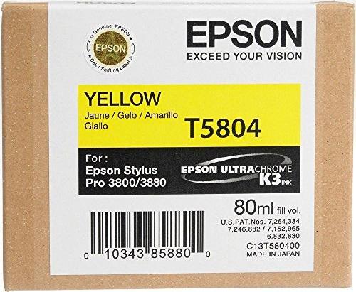 Epson tusz T5804/T6304 żółty (C13T580400/C13T630400) -- via Amazon Partnerprogramm