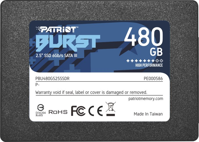 Patriot Burst 480GB, SATA (PBU480GS25SSDR)
