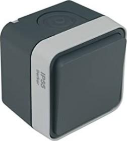 Berker W.1 toogle switch, grey/light grey matte (30763505)