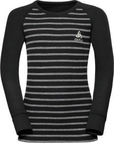 Odlo Active Warm Shirt langarm black/grey melange/stripes (Junior) (10459-10600)