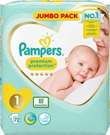 Pampers Premium Protection New Baby Gr.1 Einwegwindel, 2-5kg, 72 Stück