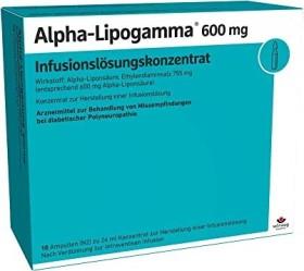 Alpha-Lipogamma 600mg Infusionslösungskonzentrat, 240ml (10x 24ml)