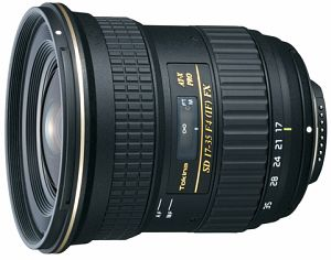 Tokina lens AT-X 17-35mm 4.0 FX for Canon