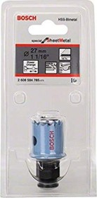 Bosch Professional Sheet Metal Lochsäge 27mm, 1er-Pack (2608584785)
