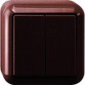 Merten Aufputz Serienschalter 1-polig, braun (MEG3115-8717)