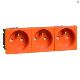 Peha Concept 45 Steckdose Erdungsstift 3fach, orange (B 6273.33 EMS SI)