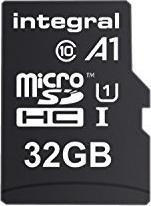 Integral A1 App Performance microSDHC 32GB Kit, UHS-I U1, A1, Class 10 (INMSDH32G10-A1)