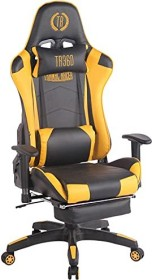 CLP Turbo with synthetic leather cover gaming chair, black/yellow (1916694128)