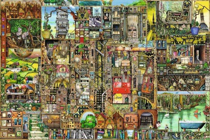 Ravensburger Puzzle Skurrile Stadt (17430)
