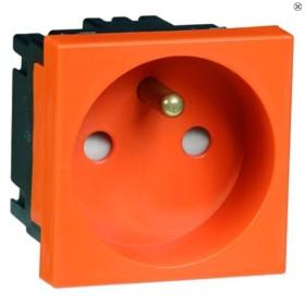 Peha Concept 45 Steckdose Erdungsstift, orange (B 6271.33 EMS SI)