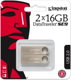 Kingston DataTraveler SE9 16GB, USB-A 2.0, 2er-Pack (DTSE9H/16GB-2P)