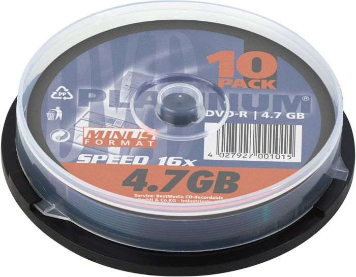 BestMedia Platinum DVD-R 4.7GB 16x, 10-pack Spindle (100309)