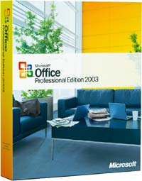 Microsoft: Office 2003 Professional non-OSB/DSP/SB, 3-pack (various languages) (PC)