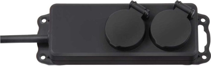 brennenstuhl steckdosenverteiler ip44 2 fach schwarz h07rn f 3g1 5 2m preisvergleich geizhals. Black Bedroom Furniture Sets. Home Design Ideas