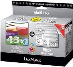Lexmark Printhead with ink 43 XL/44 XL black/tricolour (80D2966)