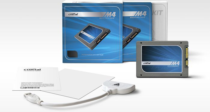Crucial m4 Slim - Data Transfer Kit -  256GB, SATA (CT256M4SSD1CCA)