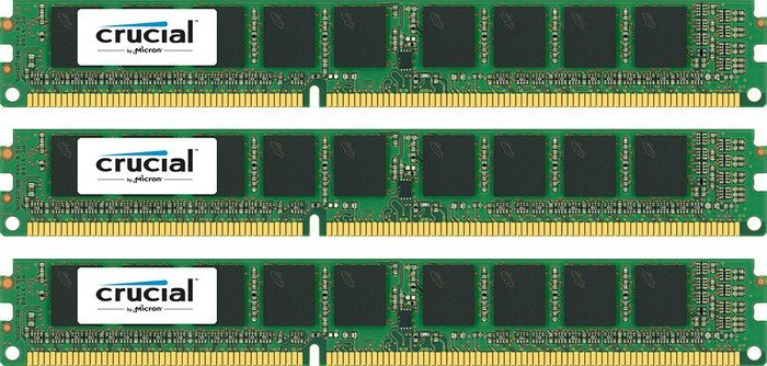 Crucial DIMM Kit 12GB PC3L-12800R reg ECC CL11, low profile (DDR3L-1600) (CT3K4G3ERVLD8160B)