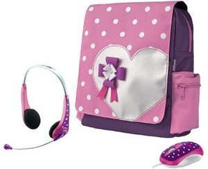 "Trust Hearts Netbook Schoolbag 12"" carrying case pink (16890)"