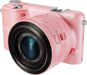 Samsung NX2000 pink mit Objektiv 20-50mm i-Function