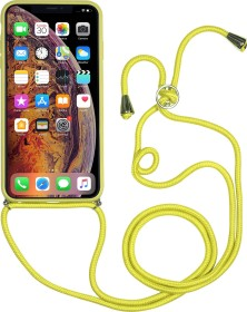 Stilgut mobile phone chain with leather back for Apple iPhone XS/X yellow (B07RBLP62P)
